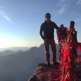 A trek to the top of Hua Shan, after visiting Dalian Nationalities University, 2014
