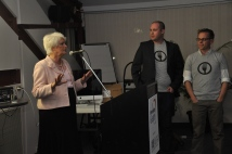MPP Liz Sandals speaking about the power of geeks for social justice at the Farm To Fork launch.