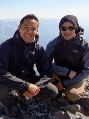 Top of Cascade Mountain with Rick Chin - the first stage in the Big Mountain Challenge