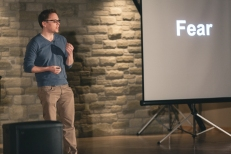 Speaking at IgniteGuelph 3 on the topic of Fear.