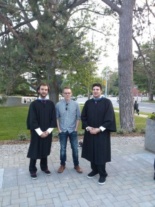Graduation day with Corey and Lee-Jay, 2014